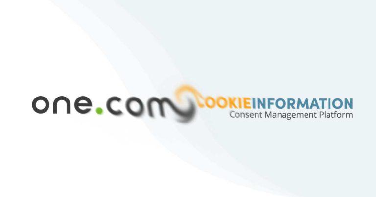 one.com er nå en cookie information partner