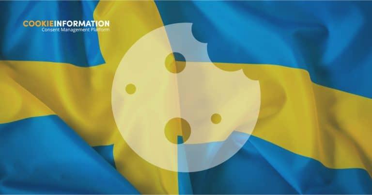 bild av en svensk flagga med en cookie som berättar varför du måste få samtycke till cookies